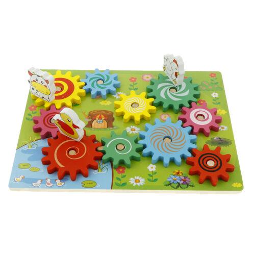 Drehbare Zahnräder aus Holz Montessori Spielzeug