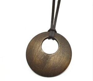 Halskette-Kette-Vintage-Anhaenger-Holz-Handmade-Maenner-Vegan-Surferkette-Herren