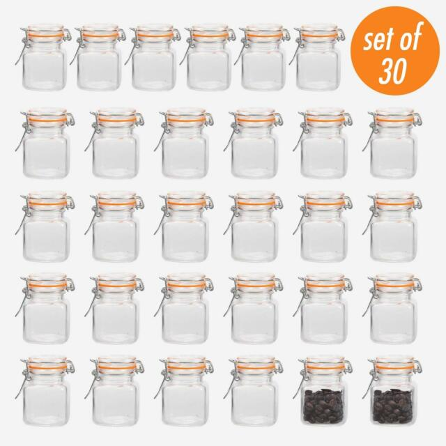 Encheng 4 oz Glass Jars With Airtight Lids And Leak Proof Rubber Gasket,Small