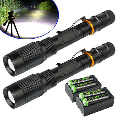 10X 50000LMS Tactical Police Swat T6 5Modes 18650 Zoom Focus Flashlight Lamp USA