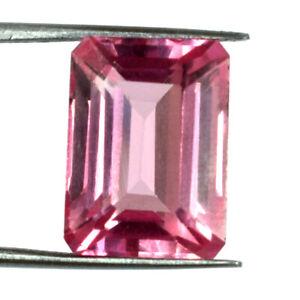 13.90 Ct Padparadscha Orange Sapphire Gems Natural Emerald Cut Certified G1178
