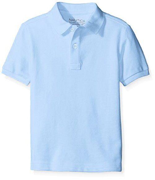 Nautica Boys Uniform Short Sleeve Pique Polo School Uniform Polo Shirt