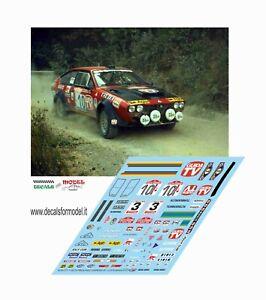 DECALS 1/43 ALFA ROMEO GTV TURBODELTA PREGLIASCO RALLY SANREMO 1980