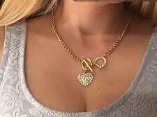 NEU H&M Statement Kette Kurze Kette Silber Gold Strass Herz Luxus SOLD OUT