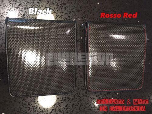 Black Carbon Fiber Wallet Bifold ID Genuine Leather Made In USA W212 E92 F12 F06