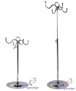 DemüTigen Taschenständer Schmuckständer Mit 4 Haken Höhenverstellbar Kettenständer Juwelier- & Uhrmacherbedarf