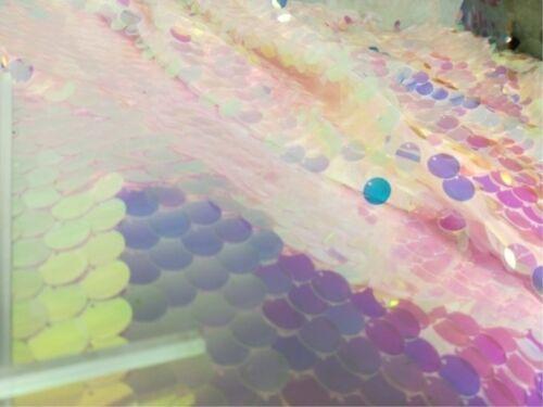 Laser SEQUIN tissu bling brillant Sirène échelle Mariage DIY arrière-plan