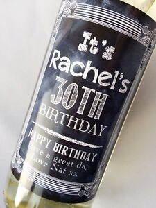 PERSONALISED-18th-21st-30th-40th-BIRTHDAY-CHALKBOARD-DESIGN-WINE-LABEL-GIFT