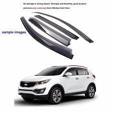 Premium Polycarbonate Window Sun Visor Rain Guard for Kia Sportage R 2012-2016