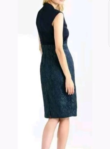 Cl4 Size Jacquard 14 Uk Jacqueline Navy Eight Women's Phase Dress rPA7rq