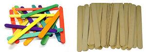 GRANDE-JUMBO-Naturale-O-Colorato-in-Legno-Lecca-Lecca-Ice-Lolly-BASTONI-Kids-Art-Craft