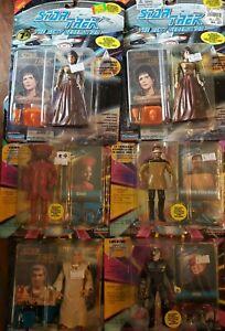 Star-Trek-The-Next-Generation-Action-Figures-Lot-Of-6-Vintage-Playmates-TNG-RARE
