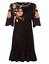 BiBa-Bohemian-Grande-Velvet-Black-FLoral-Dress-Ladies-Size-UK-18-REF170 thumbnail 1