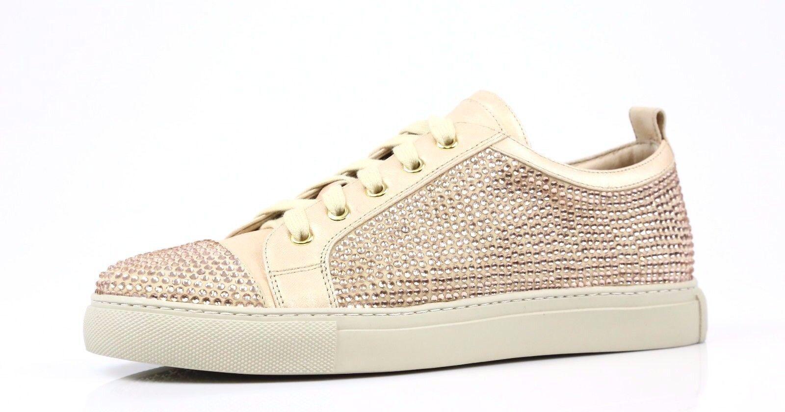 Lola Cruz NAVIMA Metallic Gold Jewel Fashion Sneakers Style T00BK 38 EU NEW!