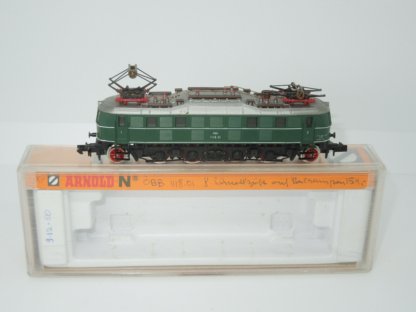 Arnold Spur N 2454 E-Lok 1118.01 1118.01 1118.01 der ÖBB grün a1a3ef