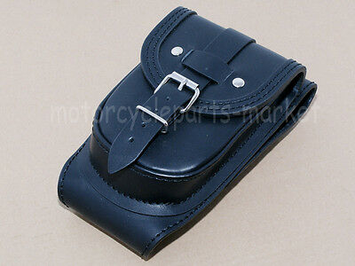 Leather Tank Cover Panel Pad Bib Bra With Pouch For Harley SPORTSTER XL 883 1200