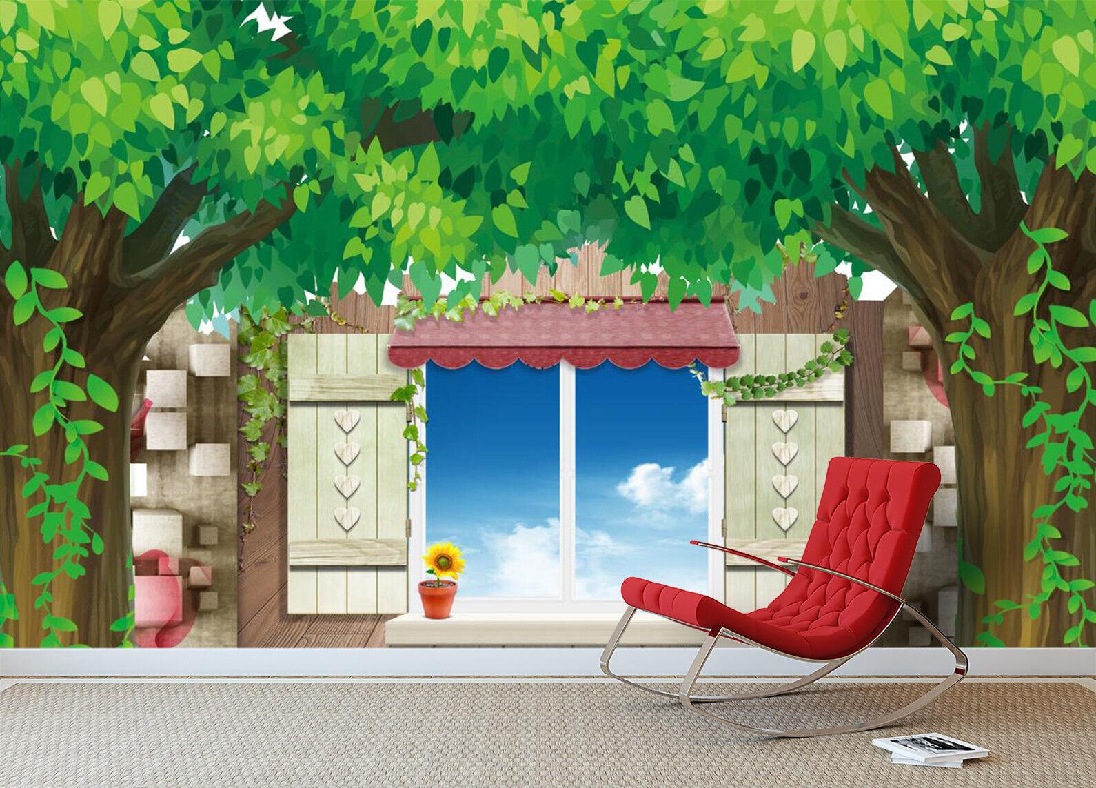 3D Tree Sky 97 Wallpaper Mural Wall Print Wall Wallpaper Murals US Carly