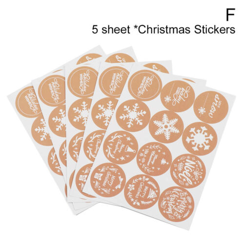Tag Sealing Package Label Gift Paper Sticker Merry Christmas Xmas Ornament