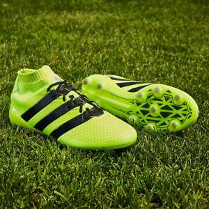 Adidas Men's Ace 16.1 Primeknit FG Chaussures De Football Jaune/Noir Neuf Dans Boîte