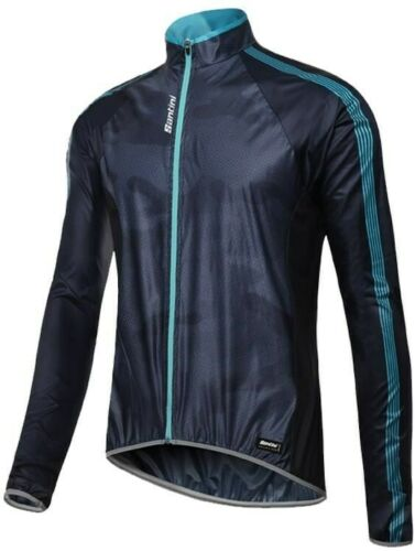 Blue Santini W9 Windproof Jacket Skin//Fine Design RRP £80 Stock Clearance