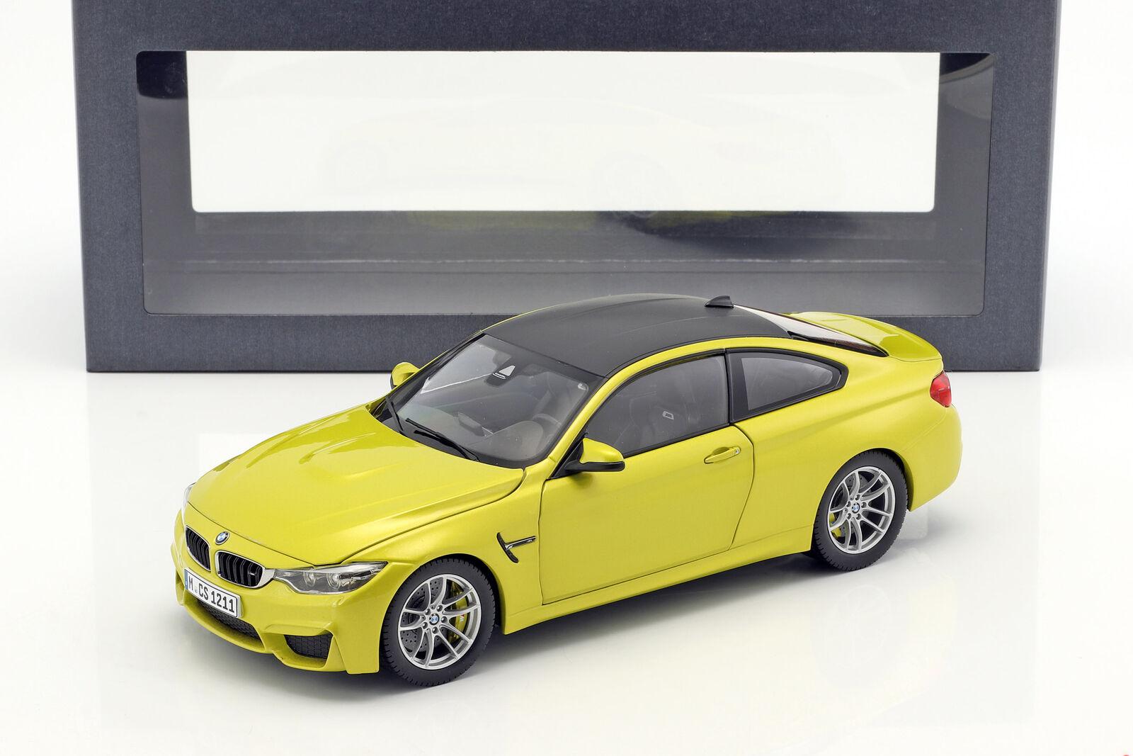 compra limitada BMW M4 M4 M4 Coupé (F82) Austin Amarillo 1 18 Modelos Paragon  ahorra hasta un 50%