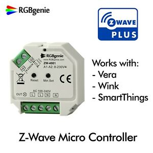 Details about Z-Wave Micro Controller and Lamp Module, Trailing Edge Dimmer  200 Watts RGBgenie
