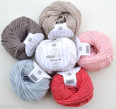 11,96€/100g Rico Baby Merino dk, 25g weiche Babywolle, 100% Wolle (Merino)