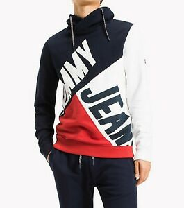 Tommy Jeans Colorblock Funnel Neck Sweatshirt at
