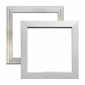 Image Is Loading Pewter Chrome Silver Picture Photo Square Frames Metallic