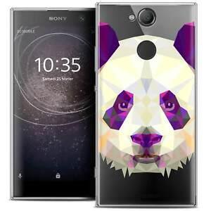 Coque-Housse-Etui-Pour-Sony-Xperia-XA2-5-2-034-Polygon-Animal-Souple-Fin-Panda