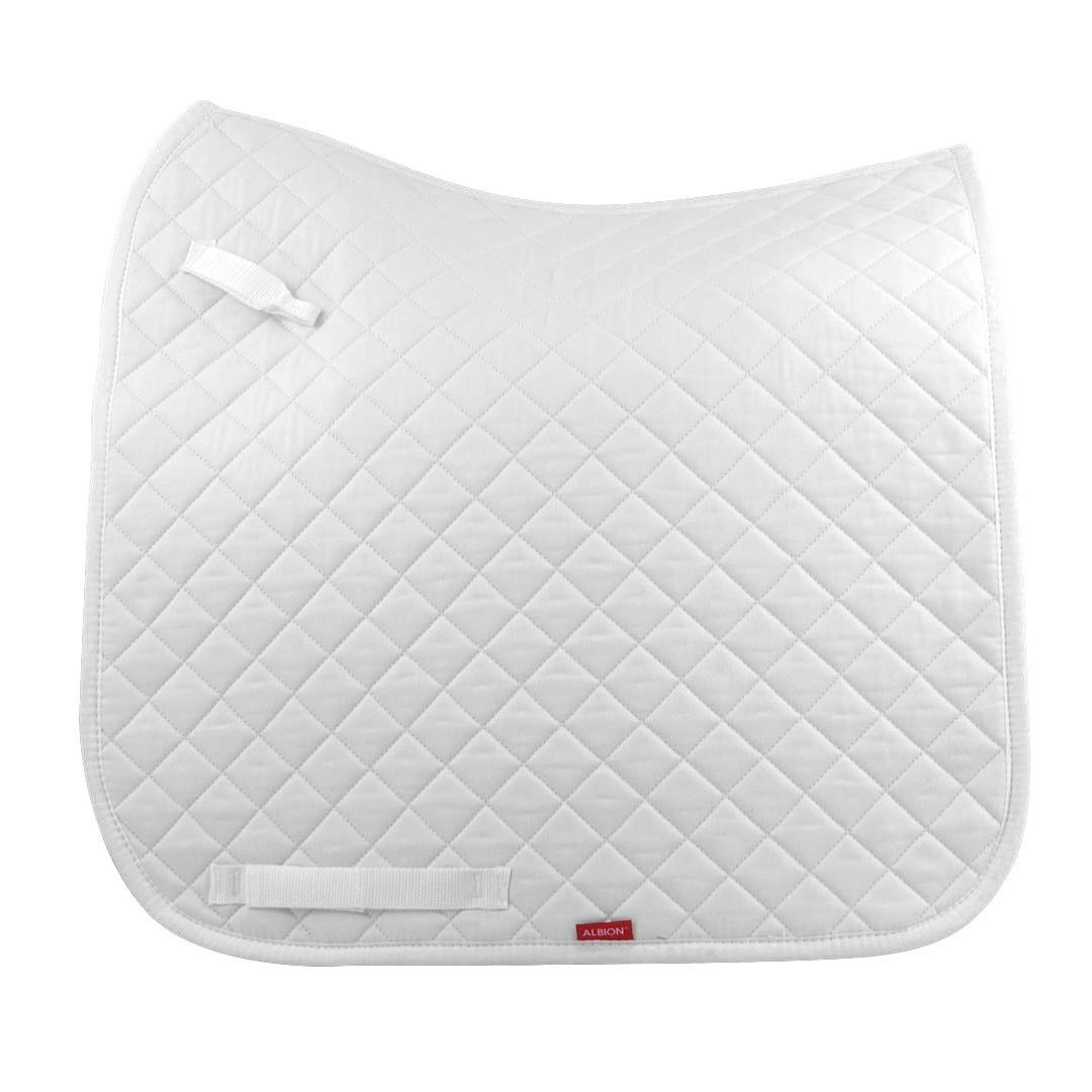 New Albion Dressage Saddle Cotton Square Saddle Cloth White