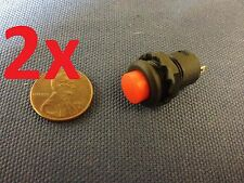 2x 12v Red Self-locking Push Button Switch Latching ON/OFF c7