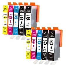 10x Ink Cartridge For HP 564XL Photosmart 5510 5511 5512 5514 5515 5520 Printer