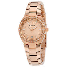 Fossil Colleague Rose Dial Rose Gold-tone Ladies Watch AM4508
