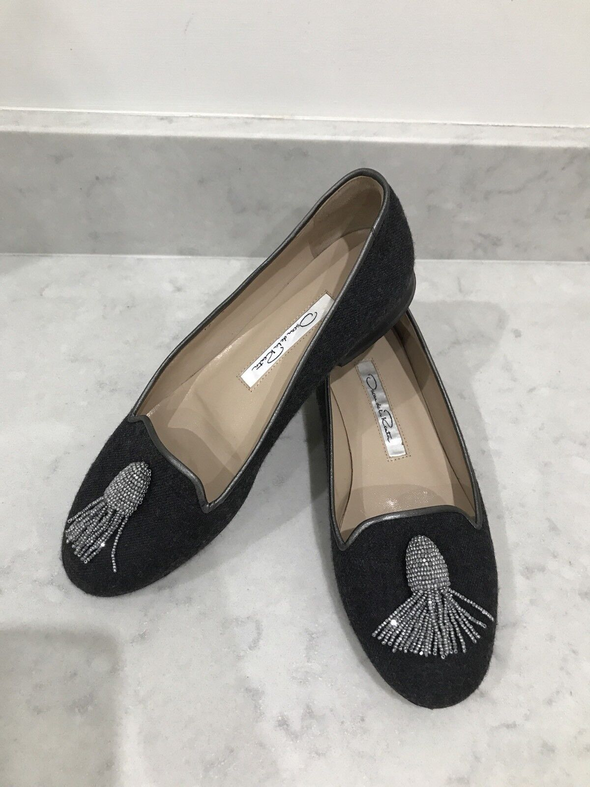 Oscar Oscar Oscar de la Renta agrémentée chaussures, taille IT37 UK4 504cda