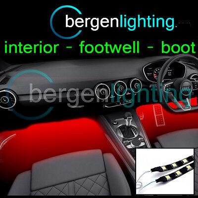 2X 375MM RED INTERIOR UNDER DASH/SEAT 12V SMD5050 DRL MOOD LIGHTING STRIPS