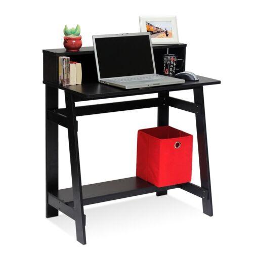 Desk Computer Table Frame Storage Laptop Home Office Workstation Espresso New
