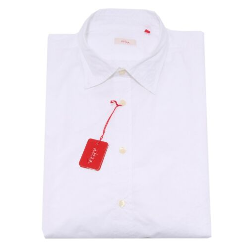 5641q Long Shirt Men Altea Sleeve Bianco Camicia Uomo XqT7wXr