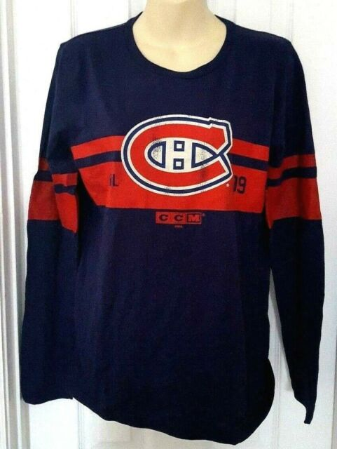 best service 2aaa8 1feed Montreal Canadiens Youth Jersey T Shirt Size XL 18 CCM Blue Distressed Logo