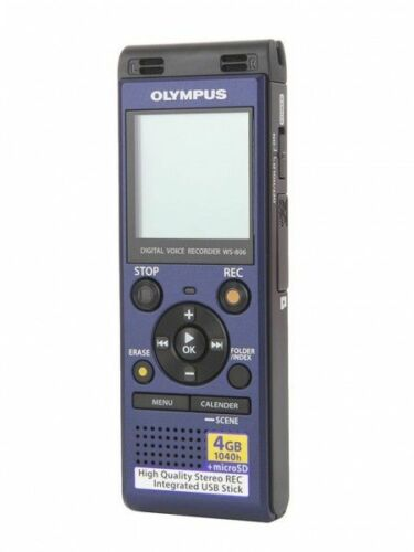 Voice Recorder mit 4 GB OLYMPUS WS-806 Diktiergerät SD Slot in blau