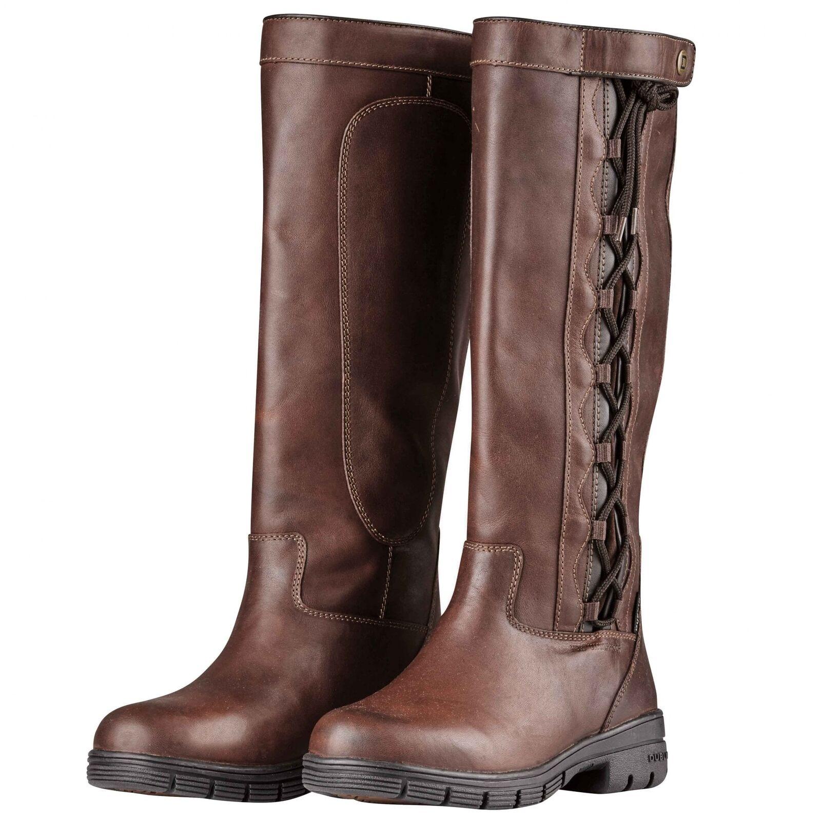 Dublin Pinnacle Grain Boots II Red Brown UK SHOE SIZES