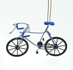 image is loading kurt s adler blue metal wire bicycle blue - Bicycle Christmas Ornament