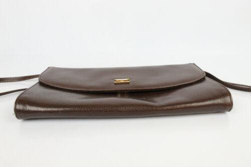 vintage bandoulière à en bon Sac marron état en cuir wXzCH5q
