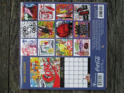 Coca-Cola 2020 12 month 7 x 7 Mini Wall Calendar Pop Art Graffiti