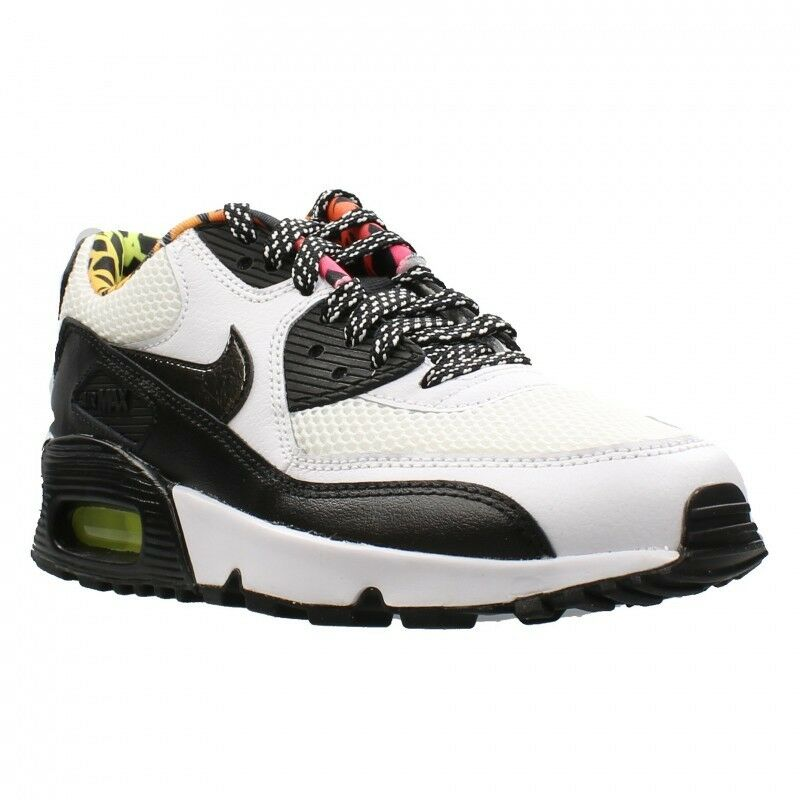 NEW 833477-100 GS GIRL'S YOUTH NIKE AIR MAX 90 FB WHITE BLACK sz 5.5Y WOMENS 7