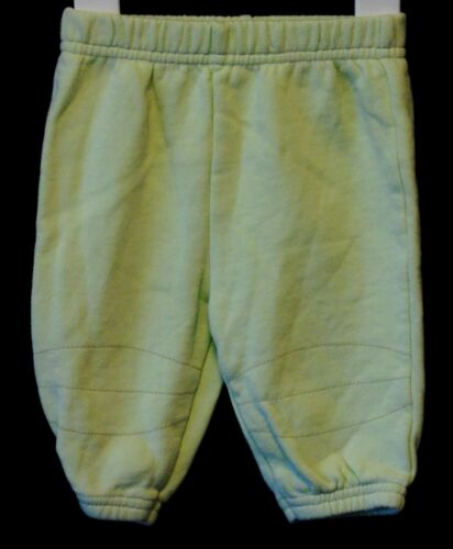 Baby Boys Adams Green Yellow Cuffed Jogpants Joggers Trousers Age Newborn 11lbs