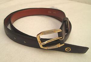 AUTHENTIQUE-ceinture-PIERRE-CARDIN-cuir-TBEG-vintage-T-100