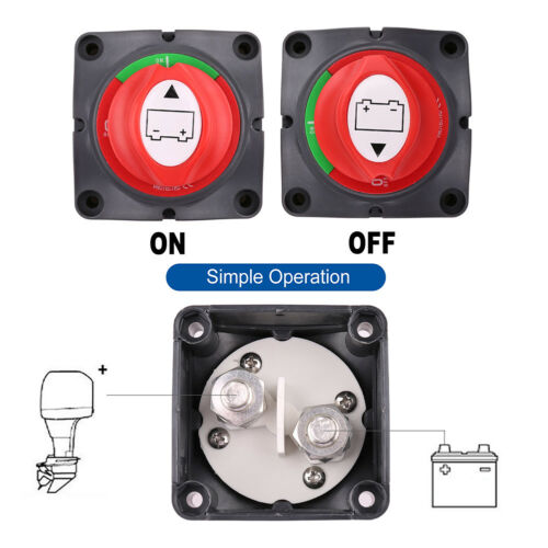 Battery Switch Power Cut On//Off Master Disconnect Isolator Car Vehicle RV Boat