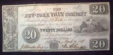 1858 $20 New York Loan Company Obsolete Note
