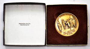 Medallic-Art-Co-1988-Bronze-George-Washington-Oath-Medal-200th-45mm-w-Box
